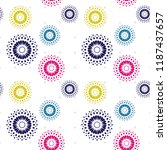 colorful trendy abstract circle ... | Shutterstock .eps vector #1187437657