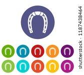 horseshoe icons color set...