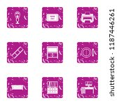 print fine icons set. grunge... | Shutterstock .eps vector #1187446261