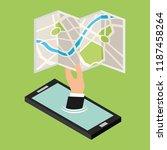 gps navigation transportation | Shutterstock .eps vector #1187458264