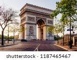 paris arc de triomphe ... | Shutterstock . vector #1187465467
