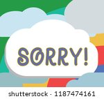 text sign showing sorry.... | Shutterstock . vector #1187474161