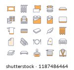 bedding flat line icons.... | Shutterstock .eps vector #1187486464
