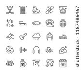 winter sports line icons. cold...   Shutterstock .eps vector #1187486467