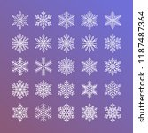 cute snowflakes collection... | Shutterstock .eps vector #1187487364