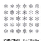cute snowflakes collection... | Shutterstock .eps vector #1187487367