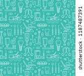dentist  orthodontics blue... | Shutterstock .eps vector #1187487391