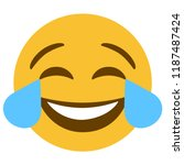 emoji lol laugh face vector...