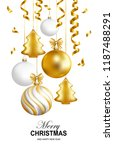 merry christmas and happy new... | Shutterstock .eps vector #1187488291