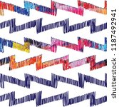 seamless pattern with arrows.... | Shutterstock .eps vector #1187492941