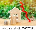 depopulation concept. a decline ... | Shutterstock . vector #1187497534