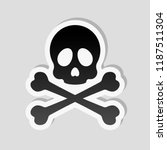 skull and crossed bones. simple ... | Shutterstock .eps vector #1187511304