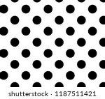 vintage polka dots  pattern ... | Shutterstock .eps vector #1187511421