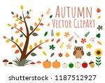 set of autumn vector clipart.... | Shutterstock .eps vector #1187512927