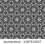vector monochrome seamless... | Shutterstock .eps vector #1187513527