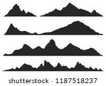 mountains silhouettes on the... | Shutterstock .eps vector #1187518237