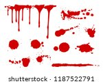 blood splatters collection   ... | Shutterstock .eps vector #1187522791