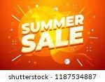 summer sale promotion banner...   Shutterstock .eps vector #1187534887
