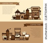 coffee objects and equipment....   Shutterstock .eps vector #1187534944