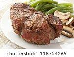 juicy organic grilled steak... | Shutterstock . vector #118754269