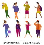 set of illustrations of men on... | Shutterstock .eps vector #1187543107