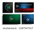 letter rx logotype with... | Shutterstock .eps vector #1187547517