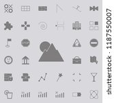 mountains sun icon. web icons...