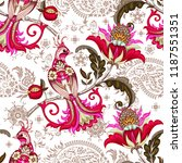 seamless pattern with... | Shutterstock .eps vector #1187551351