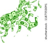 american dollar notes falling.... | Shutterstock .eps vector #1187553091