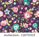 seamless beautiful flower... | Shutterstock .eps vector #118755319