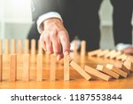 businessman plan and strategy... | Shutterstock . vector #1187553844