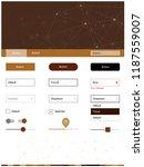 dark brown vector web ui kit in ...