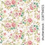 classic wallpaper seamless... | Shutterstock . vector #118756021