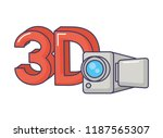 3d digital camera record... | Shutterstock .eps vector #1187565307