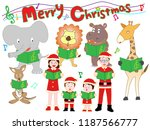 christmas concert of family and ... | Shutterstock .eps vector #1187566777