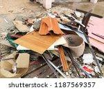 pile of garbage plastic black... | Shutterstock . vector #1187569357