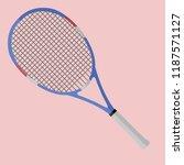 tennis racket vector... | Shutterstock .eps vector #1187571127