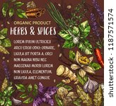 natural spices and herbs sketch ... | Shutterstock .eps vector #1187571574