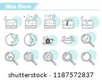 skin care icon set    simple... | Shutterstock .eps vector #1187572837
