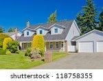 big custom made luxury house in ...   Shutterstock . vector #118758355
