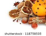 composition of christmas spices ... | Shutterstock . vector #118758535