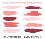 decorative label brush stroke... | Shutterstock .eps vector #1187597977