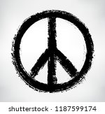 peace symbol.vector grunge... | Shutterstock .eps vector #1187599174