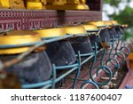 selected focus a row on... | Shutterstock . vector #1187600407