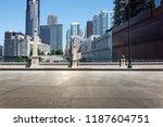 empty street through modern... | Shutterstock . vector #1187604751