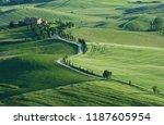 idyllic landscape in pienza ... | Shutterstock . vector #1187605954