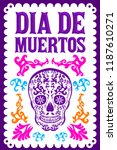 dia de muertos  day of the... | Shutterstock .eps vector #1187610271