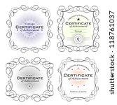 various certificate templates... | Shutterstock .eps vector #118761037
