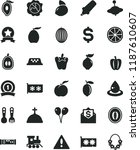 solid black flat icon set... | Shutterstock .eps vector #1187610607