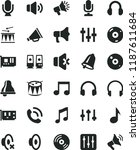 solid black flat icon set bell... | Shutterstock .eps vector #1187611684